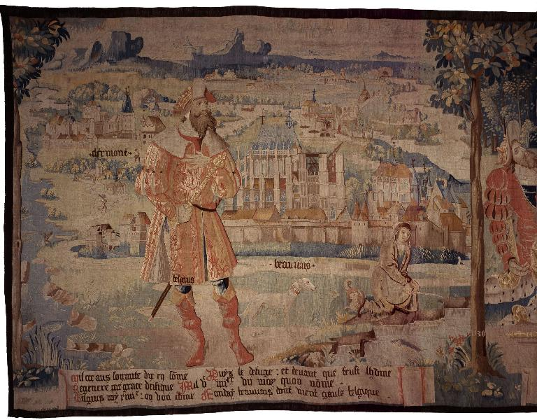 Pièce murale : Belgius fondateur de Beauvais, Dardanus et la fondation de Troyes, Paris fondateur de la ville éponyme