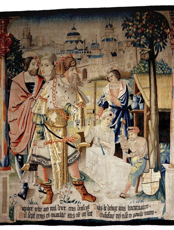 Pièce murale : Samothès, premier roi des Gaules et Jupiter Celte, neuvième roi des Gaules