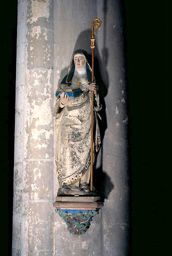 Statue (grandeur nature) : Sainte Angadrême (n° 3)