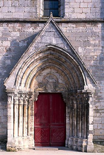 Portail de la façade occidentale et son tympan