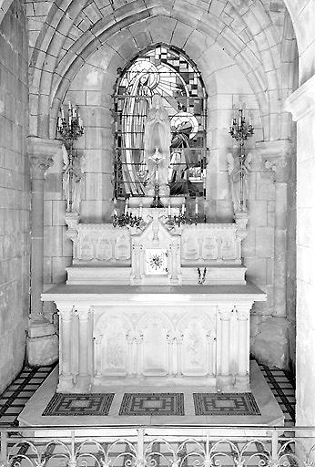 Autel secondaire de la Vierge de Lourdes