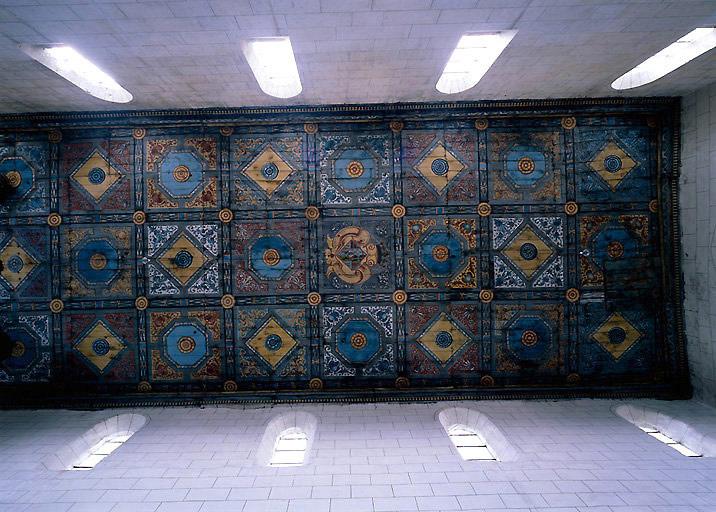 Plafond peint en trompe l'oeil dit plafond de Mademoiselle de Guise