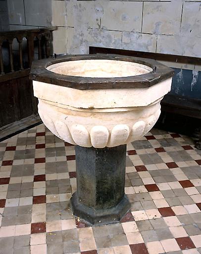 Fonts baptismaux et bassin des fonts baptismaux