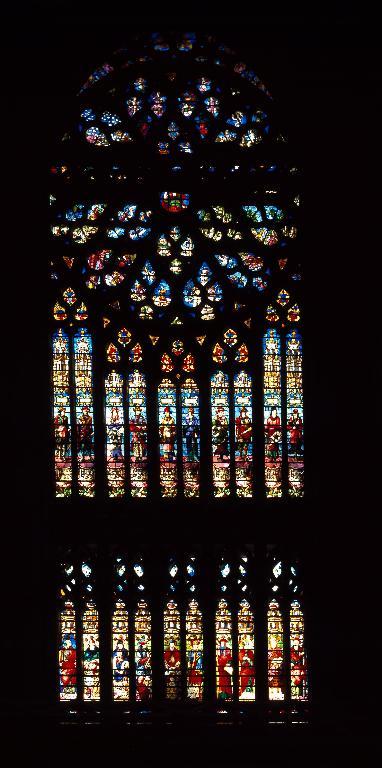 Verrière figurée : Prophètes et saints (baie 324)