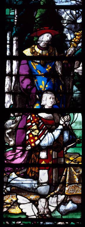 Verrière hagiographique dite vitrail de Roncherolles (baie 25)