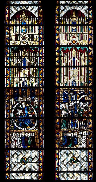 Verrière hagiographique : Scènes de la vie de saint Jean l'Évangéliste (baie 12)