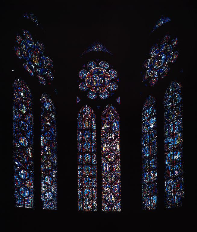 Ensemble des verrières de la chapelle axiale