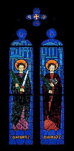 Verrière à personnages : saint Gervais et saint Protais (baie 10)