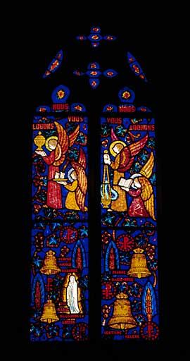 Verrière figurée : baptême des cloches (baie 4)
