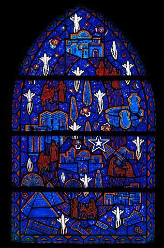 Verrière allégorique : mission de saint Joseph (baie 2)
