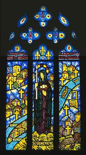 Verrière à personnages : sainte Geneviève (baie 11)
