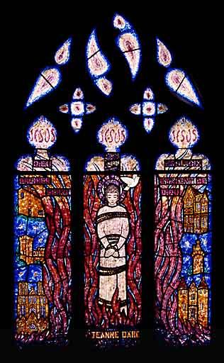 verrière, baie 14 : Sainte Jeanne d'Arc