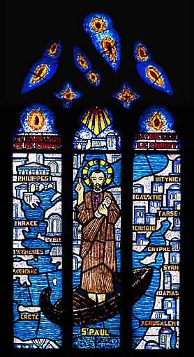Verrière à personnages : saint Paul (baie 7)