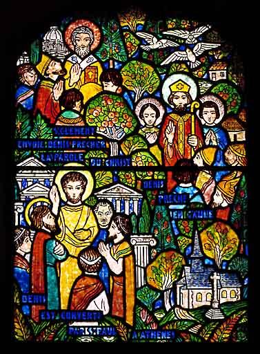 verrière, baie 8 : Vie de saint Denis