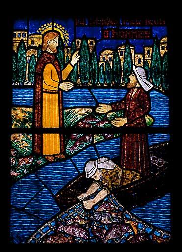 verrière : Pêche miraculeuse et Mission des apôtres