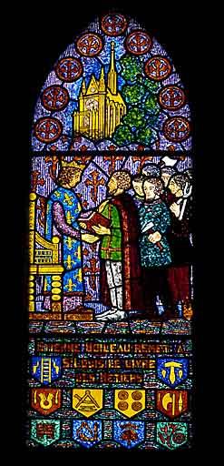 verrière, baie 15 : Saint Louis et Etienne Boileau