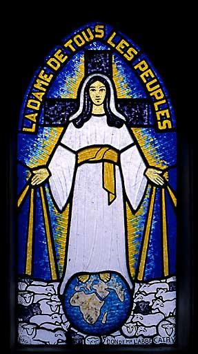 verrière, baie 1 : Vierge protectrice