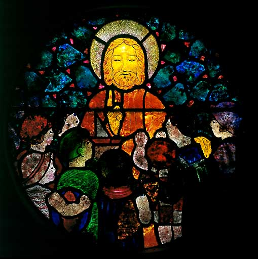 verrière : Christ et les enfants