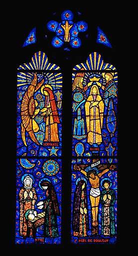 Verrière figurée : la Vierge (baie 5)