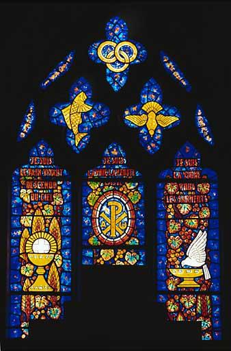 Verrière : l'Eucharistie (baie 0)