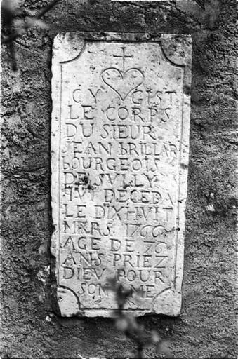 Plaque commémorative (2), de Marie Prive, de Jean Brillard