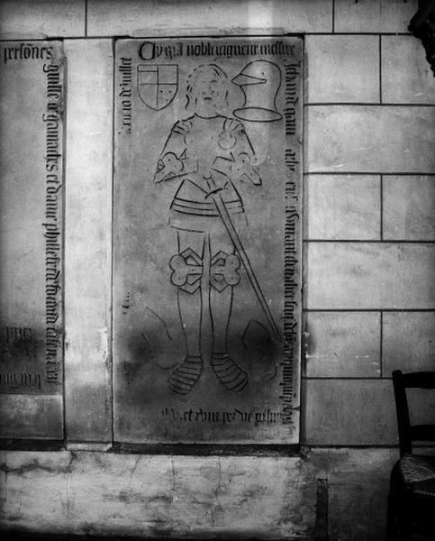 Dalle funéraire (2), de Jean Gamache