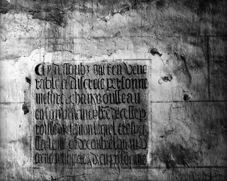 Plaque commémorative, de Jean Rousseau
