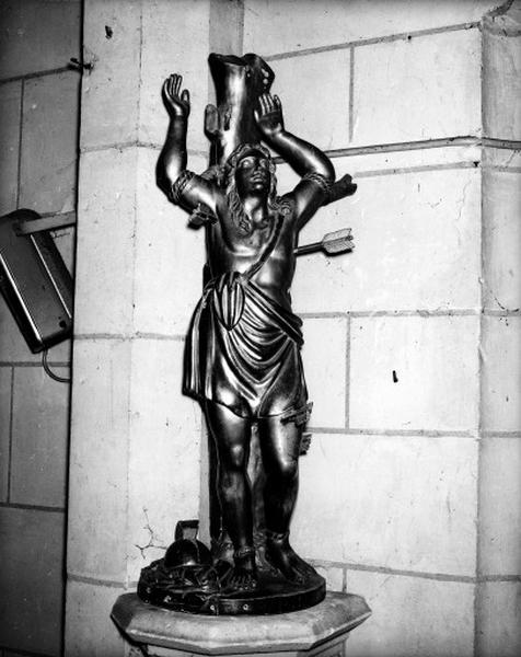 Statue (petite nature) : saint Sébastien (2)