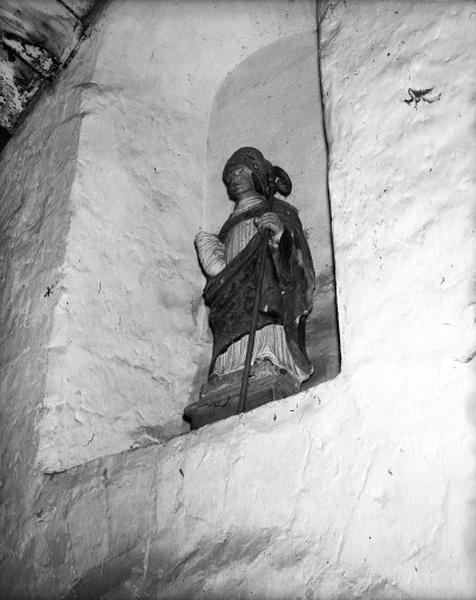 Statue (petite nature) : saint Germain