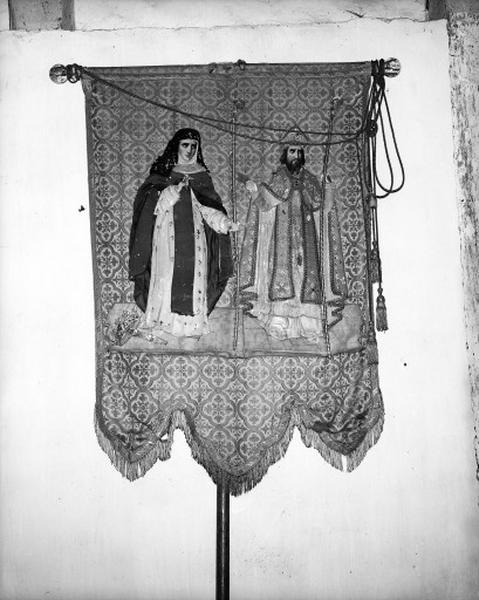 Bannière de procession, de sainte Montaine