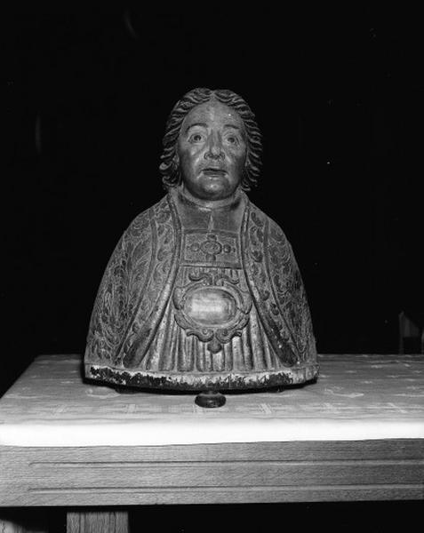 Buste-reliquaire : saint