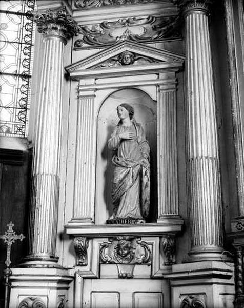 3 statues (petite nature) : saint Martin, sainte Catherine, saint Saturnin