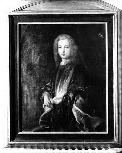 Tableau : portrait de Louis XV enfant (?), portrait du duc de Richmond (?)