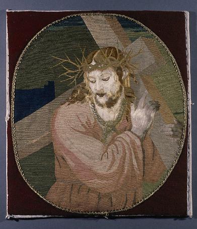 Tableau de broderie : Portement de croix