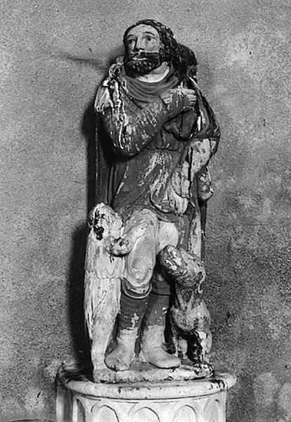 Groupe sculpté (statuette) : saint Roch