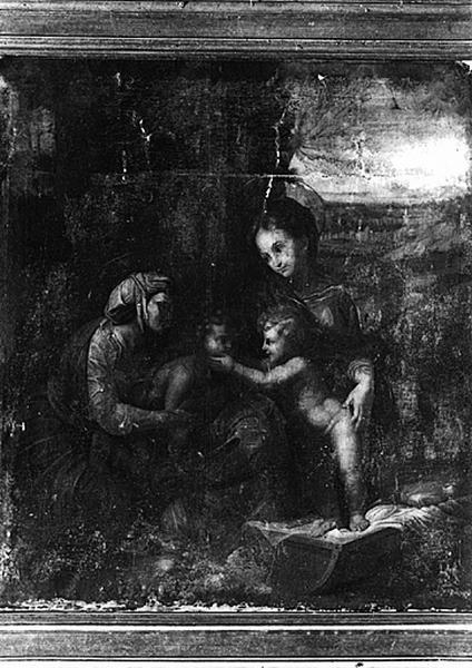 Tableau : la Vierge et sainte Elisabeth, l'Enfant Jésus et Jean-Baptiste dite la petite Sainte Famille