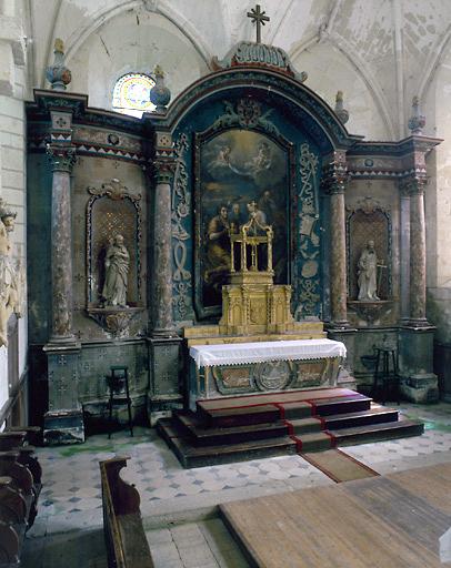 Retable (retable architecturé à ailes), retable du maître-autel