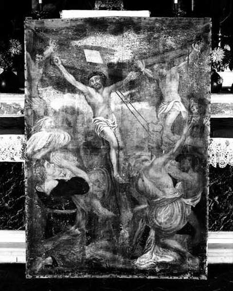 Tableau (tableau d'autel) : l'érection de la Croix