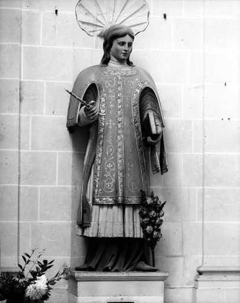 Statue (grandeur nature) : saint Baumer