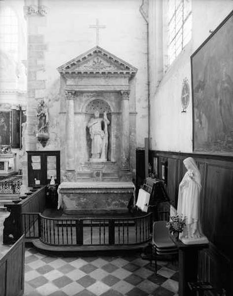 2 retables (retable architecturé à niche), de la Vierge, de saint André