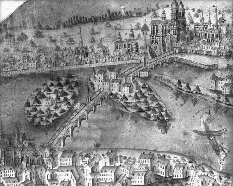pont d'Eudes, dit Vieux Pont ; Arc de Triomphe du portail Neuf