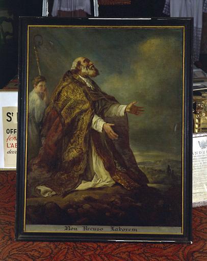 tableau : saint évêque en extase