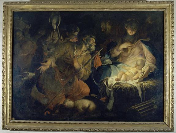 tableau : Adoration des Bergers (1)