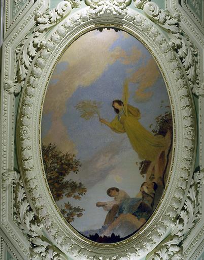 Peinture de plafond : la paix protégeant la famille du chemineau