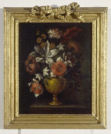 2 tableaux (en pendant) : vases de fleurs