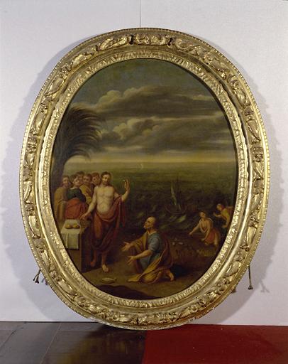 Ensemble de 4 tableaux : la Fuite en Egypte, la Pêche miraculeuse, le Baptême du Christ, l'Eglise triomphe de l'hérésie
