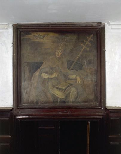 Ensemble de 4 tableaux : Saint Grégoire, saint Jérôme, saint Pierre, Père de l'Eglise non identifié