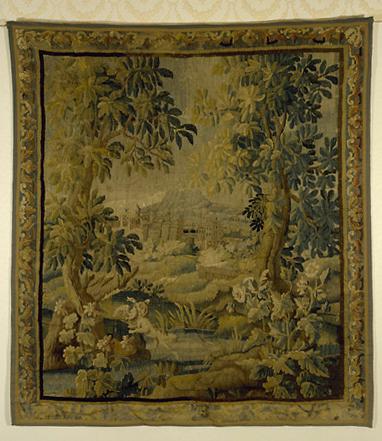 Pièce murale : le château, verdure