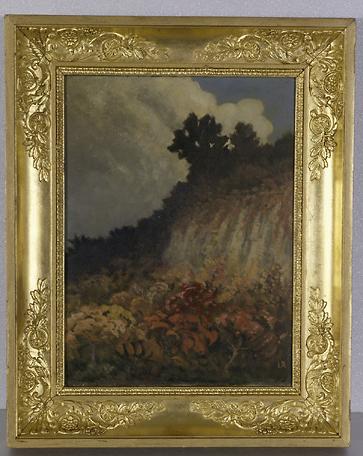 Tableau : cascade aux fleurs