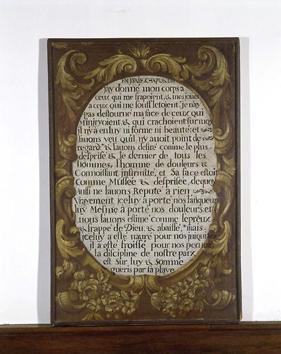 4 tableaux illustrant des textes de la Bible